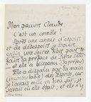 Lettre de Pierre Louys à Claude Debussy, [Paris, 28 janvier 1899] (manuscrit autographe)