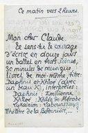 Lettre de Pierre Louys à Claude Debussy, [Paris, 27 novembre 1895] (manuscrit autographe)