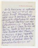 Lettres de Pierre Louys à Claude Debussy, Paris, [3 et 4 septembre 1901] (manuscrit autographe)