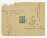 [Enveloppe (vide) adressée à Claude Debussy par Pierre Louys, [Paris, 17 novembre 1903]] (manuscrit autographe)