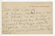 Lettre de Pierre Louys à Claude Debussy, Paris, [7 ou 8 juillet 1897] (manuscrit autographe)