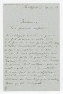 [Lettre autographe signée de Hans de Bulow à Louise Schwab, Stuttgart, 14 novembre 1884] (manuscrit autographe)