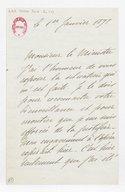 [Lettre autographe signée de Rose Caron, cantatrice, au Ministre, 1er janvier 1898] (manuscrit autographe)