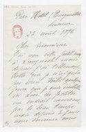 [Lettre autographe signée de Rose Caron, cantatrice, à Alphonse Duvernoy (?), Lucerne, 23 août 1896] (manuscrit autographe)