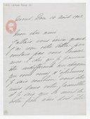[Lettre autographe signée de Rose Caron, cantatrice, à Alphonse Duvernoy (?), Mont-Dore, 14 août 1902] (manuscrit autographe)