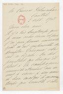 [Lettre autographe signée de Rose Caron, cantatrice, à Alphonse Duvernoy (?), Polminhac, 3 septembre 1905] (manuscrit autographe)