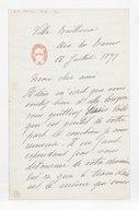 [Lettre autographe signée de Rose Caron, cantatrice, à Alphonse Duvernoy (?), Aix-les-Bains, 18 juillet 1897] (manuscrit autographe)