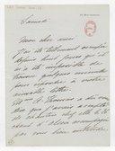 [Lettre autographe signée de Rose Caron, cantatrice, à Alphonse Duvernoy (?) (sans lieu ni date)] (manuscrit autographe)