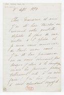 [Lettre autographe signée de Rose Caron, cantatrice, à Charles Lefebvre, 5 septembre 1894] (manuscrit autographe)