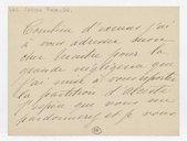 [Lettre autographe signée de Rose Caron, cantatrice, à A. Duvernoy, 30 mai 1894] (manuscrit autographe)