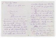 [Lettre autographe signée de Marguerite Casalonga, Madame E. Victor Meunier, à Charles Malherbe, Paris, 17 septembre 1900] (manuscrit autographe)