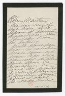 [1 lettre de Madeleine Lemaire à Jules Massenet, 1906] (manuscrit autographe)