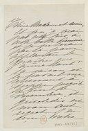 [1 lettre de Madeleine Lemaire à Madame Massenet, novembre 1901] (manuscrit autographe)