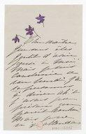 [1 lettre de Madeleine Lemaire à Jules Massenet, mai 1889] (manuscrit autographe)