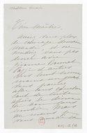 [1 lettre de Madeleine Lemaire à Jules Massenet] (manuscrit autographe)