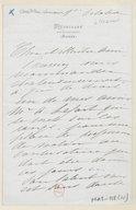 [1 lettre de Madeleine Lemaire à Jules Massenet, 1893?] (manuscrit autographe)