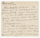 [1 lettre de Georgette Leblanc à Jules Massenet, décembre 1894] (manuscrit autographe)