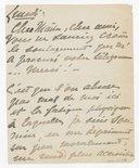 [1 lettre de Georgette Leblanc à Jules Massenet, décembre 1894-janvier 1895] (manuscrit autographe)
