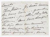 [1 lettre de Georgette Leblanc à Jules Massenet, vers 1895] (manuscrit autographe)