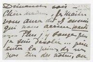 [1 lettre de Georgette Leblanc à Louise Massenet, 15 mars 1897] (manuscrit autographe)
