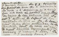 [1 lettre de Georgette Leblanc à Jules Massenet] (manuscrit autographe)