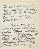 [1 lettre de Georgette Leblanc à Jules Massenet, mars 1894?] (manuscrit autographe)