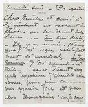 [1 lettre de Georgette Leblanc à Jules Massenet, 12 décembre 1894] (manuscrit autographe)