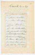 [1 lettre de Sophie Cruvelli à Jules Massenet] (manuscrit autographe)