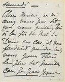 [1 lettre de Georgette Leblanc à Jules Massenet, décembre 1894?] (manuscrit autographe)