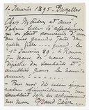 [1 lettre de Georgette Leblanc à Jules Massenet, 1er-6 janvier 1895] (manuscrit autographe)