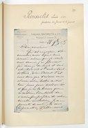 [1 lettre de Louis Rousselet à Jules Massenet, 28 novembre 1875] (manuscrit autographe)