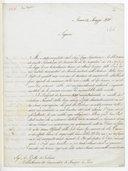 [Lettre de l'abbé Joseph Baini à Auguste Bottée de Toulmon, Roma, 31 mai 1840] (manuscrit autographe)