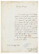[Lettre de l'abbé Joseph Baini à Monsieur Abb. Léoni, 1828] (manuscrit autographe)