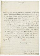 [Lettre de l'abbé Joseph Baini au Docteur Liehtenthal, 10 avril 1822] (manuscrit autographe)