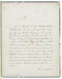 [Un faire part de la mort de Baillot] (manuscrit autographe)