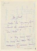 [1 lettre autographe signée d'Henri Cain à Jules Massenet (sans date)] (manuscrit autographe)