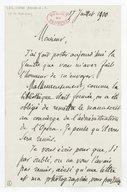 [Lettre autographe signée d'Armand Chevé à Charles Malherbe, 17 juillet 1900] (manuscrit autographe)