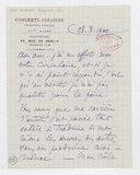 [Lettre autographe signée d'Edouard Colonne à Charles Malherbe, Paris, 28 août 1900] (manuscrit autographe)