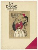 La danse, novembre-décembre 1924 : numéro consacré aux Ballets Suédois de Rolf de Maré : [programme des Ballets Suédois, Théâtre des Champs-Élysées, Skating rink, Relâche, La création du monde, La jarre, Le tournoi...