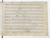 Il // Finto Cieco // Opera comica // Rappresentata nel Teatro Imper. di Corte // a Vienna L'Anno 1786 // La musica è composta dal Sig.re Gazaniga