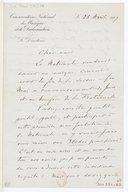 [Lettre de Gabriel Fauré à Cl. Debussy, Paris, 25 avril 1917] (manuscrit autographe)