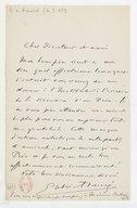 [Lettre de Gabriel Fauré à Théodore Dubois] (manuscrit autographe)