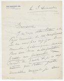 Fonds Henry Prunières. Correspondance reçue par Henry Prunières. Correspondants K-M. Long, Marguerite