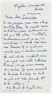 Fonds Henry Prunières. Correspondance reçue par Henry Prunières. Correspondants N-R. Poulenc, Francis. Lettre originale