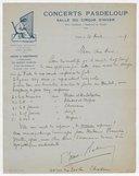 Fonds Henry Prunières. Correspondance reçue par Henry Prunières. Correspondants N-R. Rhené-Baton
