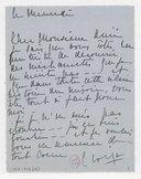 Fonds Henry Prunières. Correspondance reçue par Henry Prunières. Correspondants C-D. Croiza, Claire