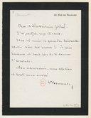 [Lettre autographe signée de Léon Bonnat à Jules Massenet, Paris (sans date)] (manuscrit autographe)