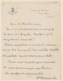 [Lettre autographe signée de Léon Bonnat à Jules Massenet, Londres (sans date)] (manuscrit autographe)
