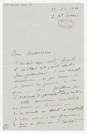 [Lettre autographe signée de Henri Dallier à Charles Malherbe, Paris, 22 juillet 1900] (manuscrit autographe)