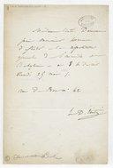 [Lettre autographe signée de Damoreau-Cinti à Loroux (sans date)] (manuscrit autographe)